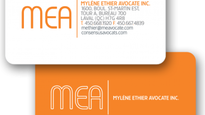 Business card / Carte d'affaire - MEA